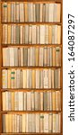 old books on the shelf    Shutterstock . vector #164087297
