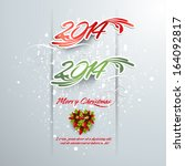 2014 new year. happy holidays...   Shutterstock .eps vector #164092817