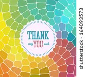 thank you card on colorful... | Shutterstock .eps vector #164093573