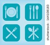 restaurant icon   four... | Shutterstock .eps vector #164108183