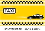 yellow modern taxi background... | Shutterstock .eps vector #164111093