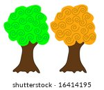 a pair of vector trees in...   Shutterstock .eps vector #16414195