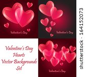 valentine's day love beautiful... | Shutterstock .eps vector #164152073