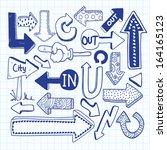 sketchy arrow doodles | Shutterstock .eps vector #164165123