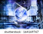 globalization internet... | Shutterstock . vector #164169767