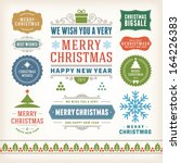 christmas decoration vector... | Shutterstock .eps vector #164226383