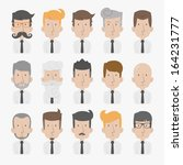 businessman with white... | Shutterstock .eps vector #164231777