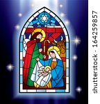 art,background,bethlehem,blue,card,christ,christianity,christmas,church,composition,creche,crib,eve,glass,greeting