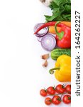 fresh vegetables. included are... | Shutterstock . vector #164262227
