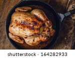 pan roasted chicken   top view | Shutterstock . vector #164282933