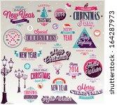 christmas set   labels  emblems ...   Shutterstock .eps vector #164287973