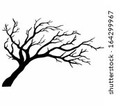 tree silhouettes. vector... | Shutterstock .eps vector #164299967