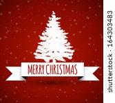 white christmas ribbon with... | Shutterstock .eps vector #164303483
