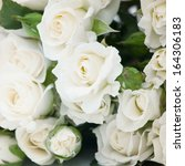 Stock photo white roses 164306183