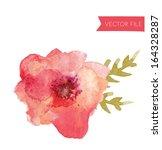 Watercolor Vector Flower...