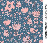 bird seamless pattern  | Shutterstock .eps vector #164340593