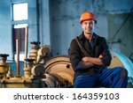 portrait of a worker in the... | Shutterstock . vector #164359103
