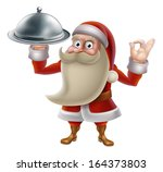 santa claus character cooking... | Shutterstock .eps vector #164373803