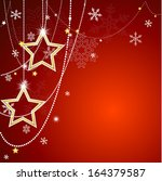 christmas background with... | Shutterstock .eps vector #164379587