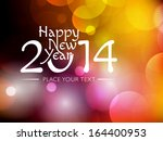 new year 2014 colourful... | Shutterstock .eps vector #164400953