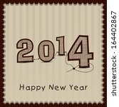 stylish happy new year 2014... | Shutterstock .eps vector #164402867