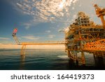 oil and gas platform in the... | Shutterstock . vector #164419373