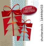 christmas composition with gift ... | Shutterstock .eps vector #164446433