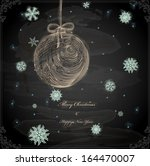 christmas hand drawn ball with... | Shutterstock .eps vector #164470007
