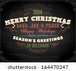 vintage christmas card design.... | Shutterstock .eps vector #164470247