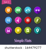 colorful flat icons for web and ...
