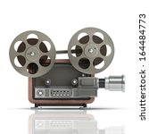 old fashioned cinema projector... | Shutterstock . vector #164484773