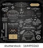 vector set of calligraphic...   Shutterstock .eps vector #164493263