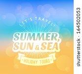 vector summer poster. creative... | Shutterstock .eps vector #164502053