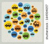cars design over gray... | Shutterstock .eps vector #164504057