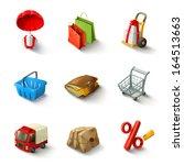 e commerce vector icon set