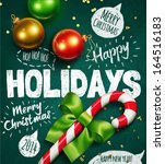 christmas background. vector | Shutterstock .eps vector #164516183