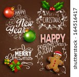 christmas decoration elements.... | Shutterstock .eps vector #164516417