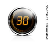 electronic brilliant timer 30... | Shutterstock .eps vector #164528927