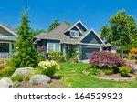 big custom made luxury house... | Shutterstock . vector #164529923