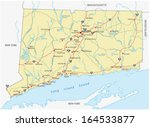 connecticut road map | Shutterstock .eps vector #164533877