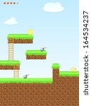 arcade game world  star   bomb  ... | Shutterstock . vector #164534237