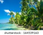 exotic paradise idyllic island  | Shutterstock . vector #164539163