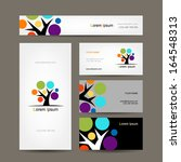 business cards collection with... | Shutterstock .eps vector #164548313