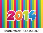 2014 new year abstract... | Shutterstock .eps vector #164551307