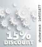 discount percent with snowflake ... | Shutterstock .eps vector #164551877