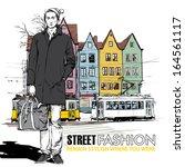 vector illustration of stylish... | Shutterstock .eps vector #164561117