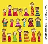 children over white background  ... | Shutterstock .eps vector #164572793