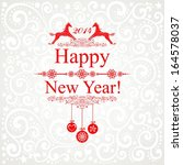 happy new year 2014  year of...   Shutterstock . vector #164578037
