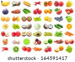 collection of various fruits... | Shutterstock . vector #164591417