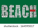 beach typography 3d text word... | Shutterstock .eps vector #164595017